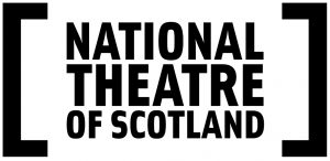 Logo: a text National Theatre of Scotland is written inside square brackets.